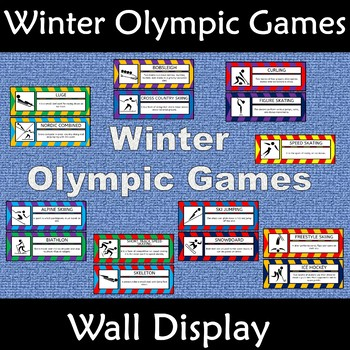 Winter Olympic Games 2018 Wall Display Anchor Poster