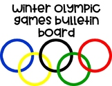 Winter Olympic Games Go For Gold Bulletin Board