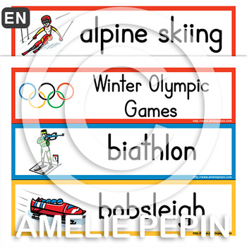 Winter Olympic Games - Illustrated Word Wall (30)