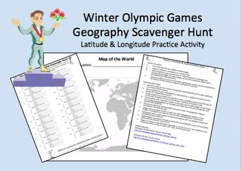 Greek Games Latitude & Longitude Geography Review Activity Locations