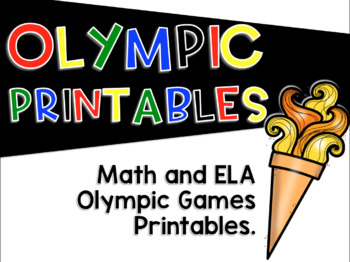 Winter Olympic Games Printables