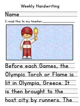 Winter Olympics, Winter Olympic Games, Torch Handwriting