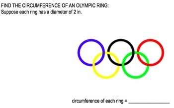 Winter Olympic Geometry Worksheet: lines, angles and rings