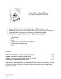 Winter Olympic  Geometrical Shape Figure Math Project