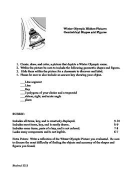 Winter Olympic  Geometrical Shape Figure Math Project