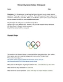 2014 Winter Olympic History Webquest - Answer Key