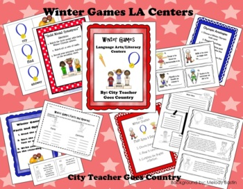 2018 Winter Games - Language Arts and Literacy Centers - 4 Centers *updated