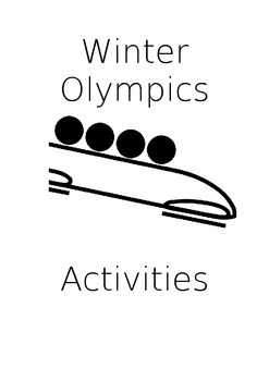 Winter Olympic Math Activities games Sochi 2014
