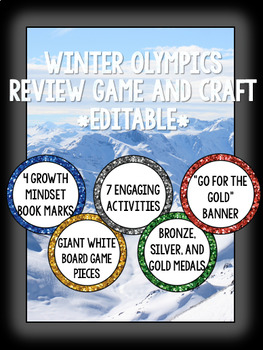 EDITABLE- Winter Olympic Review Game and Craft