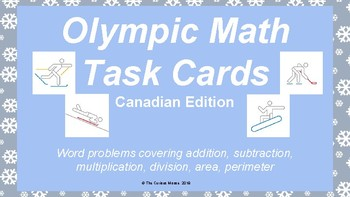 Winter Olympic Math Task Cards