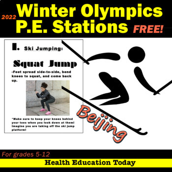 Winter Olympic P.E. Stations Workout - FREE!!