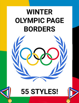 Winter Olympic Page Borders