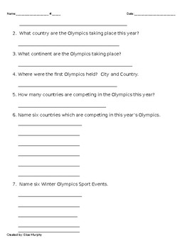Winter Olympic Project