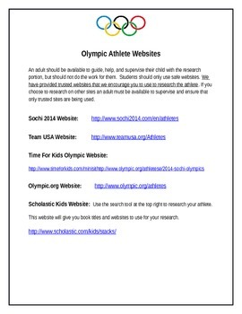 Winter Olympics Research Writing