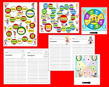 Winter Olympic Sight Words Game Boards - last 114 Dolch - Literacy Centers