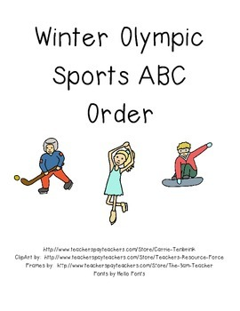 Winter Olympic Sports ABC Order
