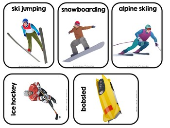 Winter Olympic Sports--Adapted Book (Autism, Special Ed, SLP)
