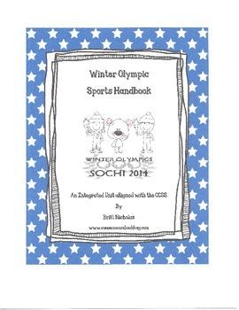 Winter Olympic Sports Handbook Writng Activity