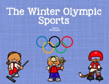 Winter Olympic Sports - Mini Book & Activities