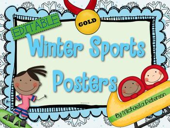 Winter Sports Posters {Editable}