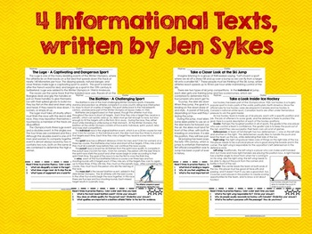 Winter Sports Informational Texts with Graphic Organizer