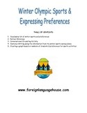 Winter Olympic Style Sports Preferences & Survey for Engli