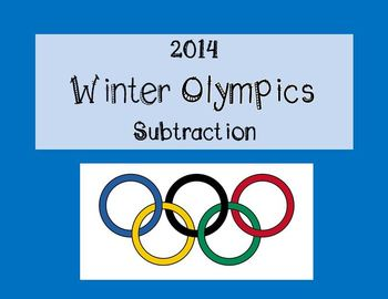 Winter Olympics Subtraction with Regrouping Task Flipchart