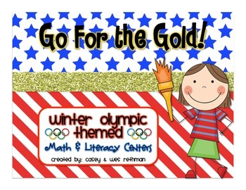 Winter Olympic Themed Math and Literacy Centers