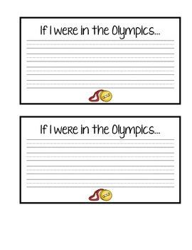 Winter Olympic kids- Writing/Craft