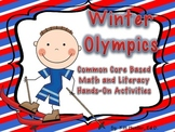 Winter Olympics-10 Common Core Aligned Literacy and Math