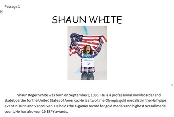 Winter Olympics 2014 Close Read Activity, Word Search, and More