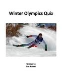 Winter Olympics 2018 Quiz