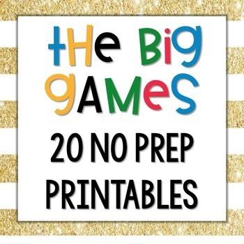 Winter Olympics 2018 TWENTY No Prep Printables