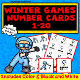 Winter Olympics 2018 Activities: Counting and Cardinality Number Cards 1 - 20
