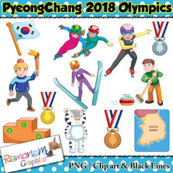 winter olympics 2018 clip art by ramonam graphics tpt rh teacherspayteachers com clipart olympic olympic clip art free