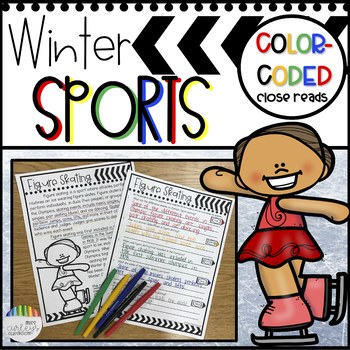 Winter Sports Color Coded Close Reading Activities