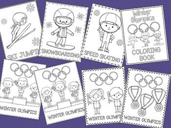 Winter Olympics 2018 Coloring Pages - The Crayon Crowd, Winter Sports