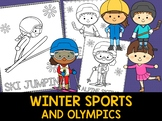 Winter Olympics 2018 Coloring Pages - The Crayon Crowd, Wi