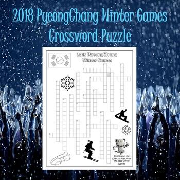 Winter Olympics 2018 Crossword Puzzle-Elementary