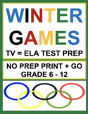 Winter Olympics 2018 ELA Bundle: 38 CCSS-Aligned TV-Viewing Prompts