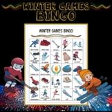 Winter Olympics 2018 Elementary Bingo