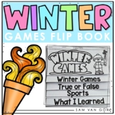 Winter Games 2018 Flip Book PLUS Student Coloring Pages fo
