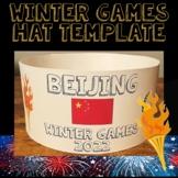 Winter Olympics 2018 Hat Template