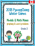 Winter Olympics 2018 Math Word Problems and Graphing - Grade 2 or Grade 3