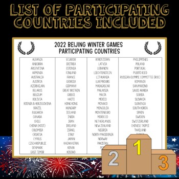 Winter Olympics 2018 Medal Chart & List of Participating Nations