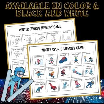 Winter Olympics 2018 Memory Matching Game