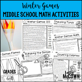Winter Olympics 2018 Middle School Math Activities