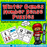 Winter Games 2018 : Number Tracing - Fine Motor Skills - Counting Puzzles