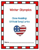 Winter Olympics 2018 - PyeongChang - Close Read Activity w