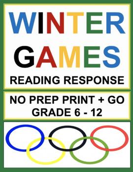 Winter Olympics 2018 Reading Activities